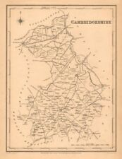 Antique county map of CAMBRIDGESHIRE by Walker & Creighton for Lewis c1840