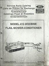 Original New Holland Model 412 Discbine Flail Mower Conditioner Parts Catalog OE