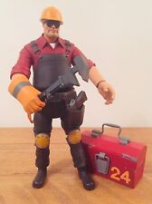 "RARE TEAM FORTRESS 2 THE ENGINEER RED 7"" ACTION FIGURE 100% COMPLETE"