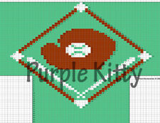 Baseball Diamond Socks Pattern - Vintage Grace Ennis #7245