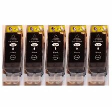 5x schwarze Patronen für Canon PIXMA IP3600 MP540X MP980 MP990 MX859 mit CHIP
