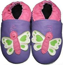 Minishoezoo butterfly purple pink 5-6y soft sole  leather baby shoes
