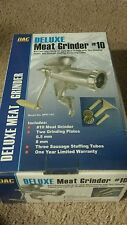 NEW     Deluxe Meat Grinder #10 Cast Iron Model # MPE-10C