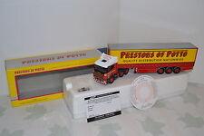 "Corgi Modern Trucks Scania 124L avec semi ""Prestons Of Potto"" 1/50 Réf. 76404."