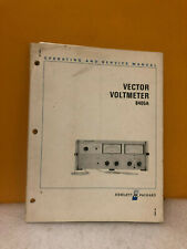 Hp 08405-90018 8405A Vector Voltmeter Operating and Service Manual
