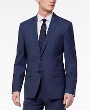 $750 CALVIN KLEIN Men Blue Stretch Wool Skinny Fit JACKET BLAZER SPORT COAT 46 R