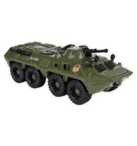 Russian Military Car Truck BTR Plastic Toys Children Hard Plastic