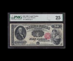 "ULTRA RARE 1880 $50 LEGAL TENDER ""FRANKLIN"" PMG VERY FINE 25"
