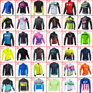 2021 Breathable Cycling Jersey Men Team Bike Long Sleeve Jersey Bicycle Shirt