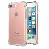 iPhone 8 Case, iPhone 7 Case, Jenuos Silicon Clear Shockproof Case Cover for iPh