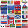 National Flags ENGLAND SPAIN FRANCE GERMANY Embroidered Sew/Iron On Patch Badge