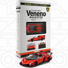 LAMBORGHINI VENENO ROADSTER KYOSHO COLLECTION SPECIAL 1:64 SOLID RED W/ BOX+BOOK