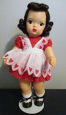 Doll Terri Lee Brunette Raysheen Wig Heart Fund Tagged 1950s