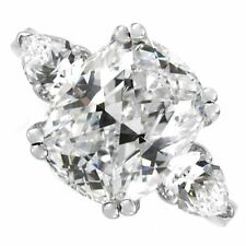 18kt G/H SI 2.50ct Cushion Cut Diamond Engagement Ring Certified