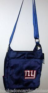 New York Giants Color Sheen Cross-body Bag Purse Grommet Handbag