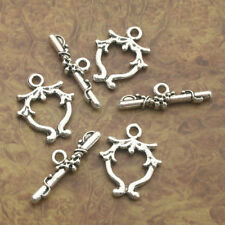 8sets Tibetan Silver jewelry toggle clasps X0207