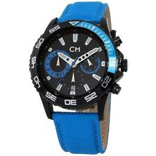 Quarz-(Batterie) Armbanduhren aus Textilgewebe und Edelstahl mit Datumsanzeige
