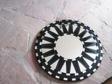 Hand crafted Mosaic Mirror Glass Celtic Sunburst mirror  black clear 15+""