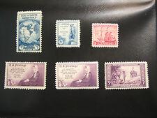 United States Scott 733 - 739 Byrd  - Wisconson commemoratives set of six