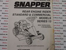 06089 Snapper Series 13 Rear Engine Rider Parts Manual