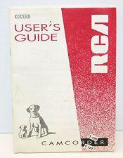 Genuine Original Manual for Rca Cc422 Vhs Vcr Tape Camcorder Video Camera 1995