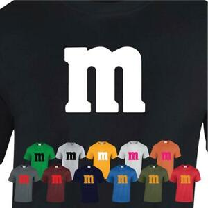 M&m Funny Men Womens Uni T shirt Halloween Costume Adult Fancy Birthday Gift