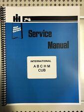 Cub International Harvester Farmall Tractor Technical Service Shop Repair Manual