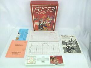 3M Avalon Hill Game Company Facts in Five Board Game - 1976 - Read Description