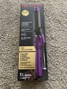 Revlon Pro Salon Soft Feel Hair Curling Iron Purple 425° Heat RVIR1143 A102