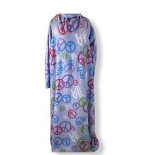 Snuggie Fleece Blanket with Kangaroo Pocket & Arms Peace Sign Pastel