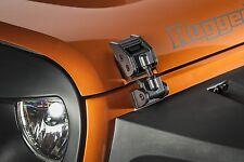 Rugged Ridge Aluminum Hood Catch Pair Textured Black Jeep Wrangler 2007-2018 JK