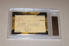 2009 RAZOR CUT SIGNATURE NATIONAL EDITION WALTER WINCHELL AUTO AUTOGRAPH
