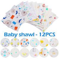 12stk Baby Lätzchen Kinder Halstuch  Spucktücher Sabberlätzchen Mulltücher Set .