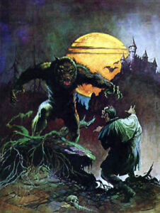 FRANK FRAZETTA Fantasy Art Print WOLFMAN  1.1 1979