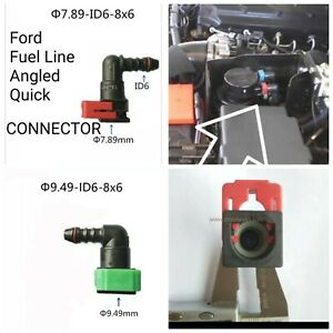 Ford Fuel Line Angled Connector  / Clip