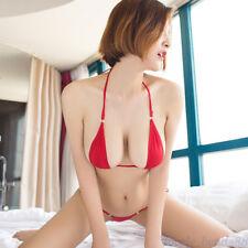 Women Sexy Micro G-String Bikini Set Bra Top Thong Lingerie Underwear Swimwear