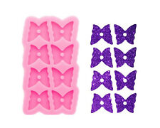 Glossy 8-hole Butterfly Earrings Silicone Mold, Epoxy Resin DIY Craft Jewelry To