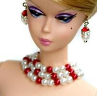 "Handmade doll jewelry necklace earrings fits 11.5/"" dolls #120"