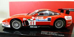 1/43 IXO Ferrari 2004 575M Monza FIA GT #11 3rd place. Mint and boxed. FER041