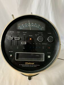 Vintage WELTRON 2001 Space ball Stereo AM/FM 8-Track Multiplex Stereo Yellow