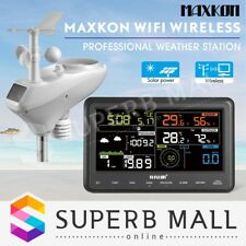 Maxkon Weather Station WIFI Wireless Solar Charging Panel Professional Outdoor
