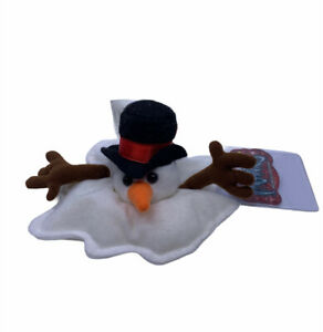 Idea Factory Meanies Shocking Stuffers Slushy Snowman Bean Bag Plush w/Tags
