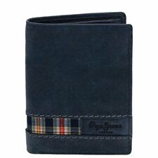 Pepe Jeans - billetero de piel Scotland azul -8 5x11 5x1cm- hombre chico