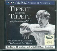 TIPPETT - SYMPHONIES 2 & 4 / BBC SYMPH ORCH CONDUCTED BY THE COMPOSER - BBC CD