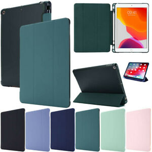 """Smart Silicone Clear Stand Case Cover For iPad 10.2"""" 8th 7th Pro 11 9.7 Mini Air"""