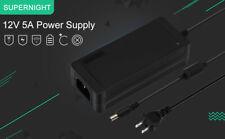10Pcs x AC100V-240V to DC 12V 5A Power Supply For 5050 3528 5630 LED Strip Light