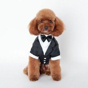Dogs Prince Tuxedo Cute Bow Tie Puppy Coat Dog Cat Wedding Suit Pet Clothes 1pc