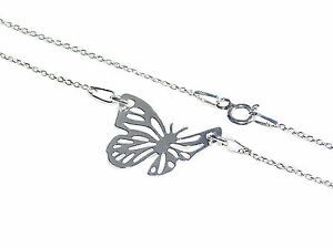 Summer Style! Celebrity Layered Sterling Silver Open Work Butterfly Necklace.