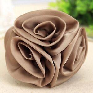 Korea Women Chiffon Rose Flower Bow Jaw Hair Clip Barrette Hair Claw Accessories