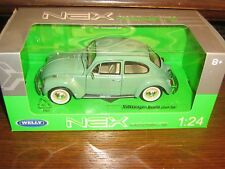 BY WELLY DIECAST - VOLKSWAGEN BEETLE (HARD TOP) IN GREEN - 1:24 Scale